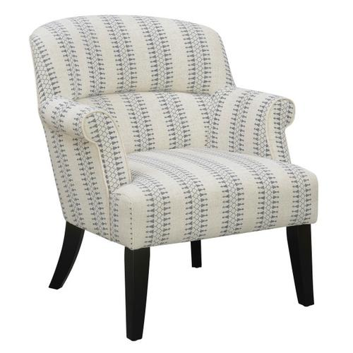 Product Image - Roll Arm Accent Chair - Cream/Blue