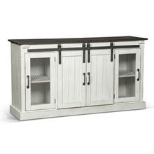 See Details - TV Console with Barn Doors White