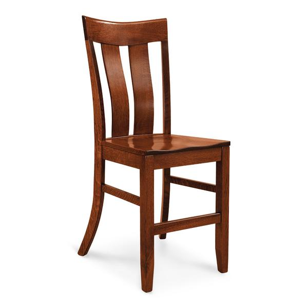 """Lincoln Stationary Barstool, 24""""h, Fabric Seat"""