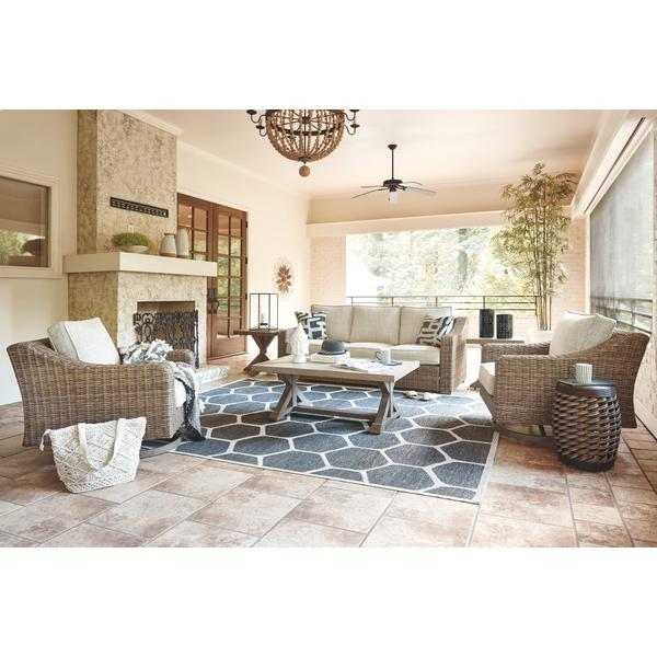 See Details - Outdoor Sofa With 2 Lounge Chairs, Coffee Table and End Table