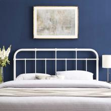 View Product - Alessia Full Metal Headboard in White