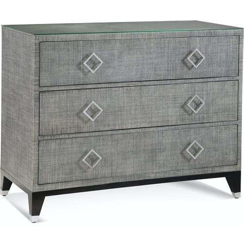 Gallery - Clarendon Three Drawer Chest in Grey