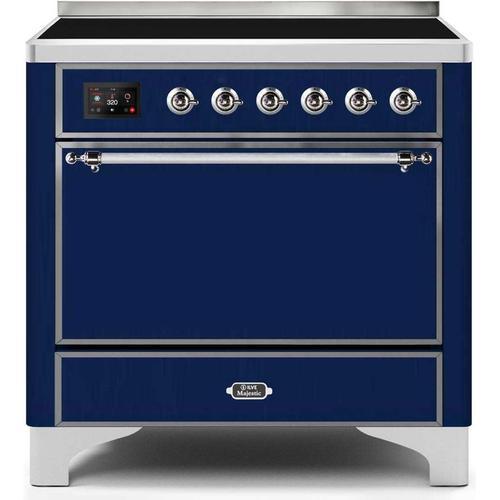 36 Inch Blue Electric Freestanding Range