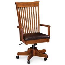 See Details - Loft Arm Desk Chair, Fabric Cushion Seat
