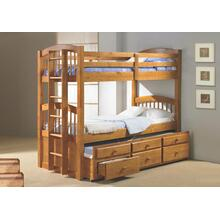 Twin/ Twin Angelica Captains Trundle Bunkbed
