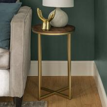 View Product - Alissa Side Tables - Walnut and Gold