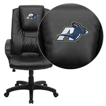 Akron Zips Embroidered Black Leather Executive Office Chair