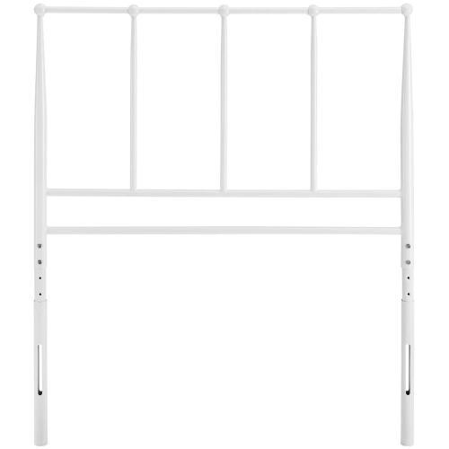 Kiana Twin Metal Stainless Steel Headboard in White