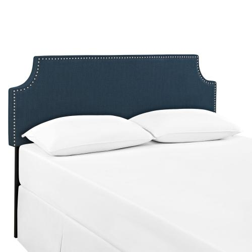 Laura King Upholstered Fabric Headboard in Azure