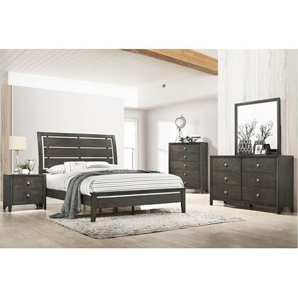 1060 Grant Twin Bed with Dresser and Mirror