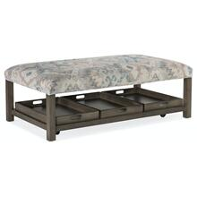 See Details - Living Room Hollis Rectangle Non-Tufted Tray Ottoman