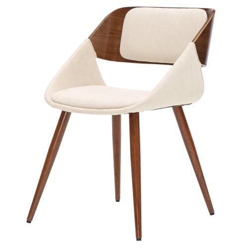 Product Image - Cyprus KD Fabric Dining Side Chair, Santorini Sand/Walnut
