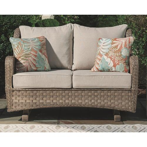 Clear Ridge Glider Loveseat With Cushion