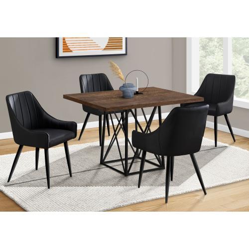"DINING TABLE - 36""X 48"" / BROWN RECLAIMED WOOD-LOOK/BLACK"