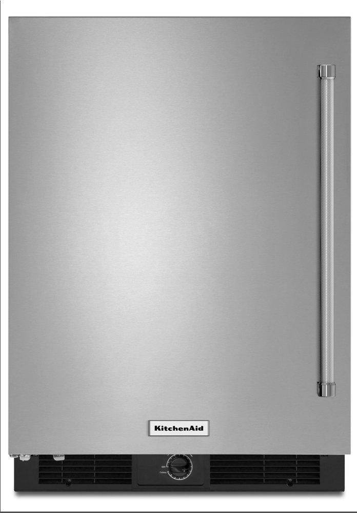 "Kitchenaid24"" Undercounter Refrigerator With Stainless Steel Door"