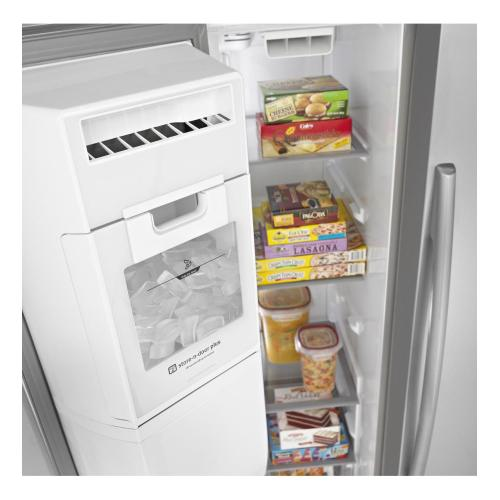 Gallery - 27 cu. ft. Side-by-Side Refrigerator with a 10-year limited parts compressor warranty