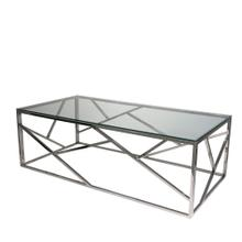 Modern Silver/glass Cocktail Table, Kd