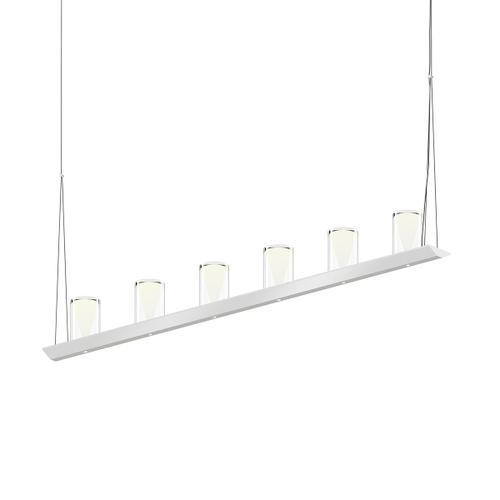 "Sonneman - A Way of Light - Votives LED Bar Pendant [Size=4', Color/Finish=Bright Satin Aluminum, Shade Size=4.5"" height x 2.75"" diameter]"