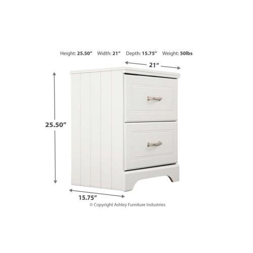 B102 Two Drawer Nightstand (Lulu)