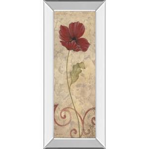 """Red Flower I"" Mirrored Framed Print Wall Art"