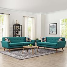 Engage Loveseat and Sofa Set of 2 in Teal