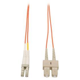 Duplex Multimode 62.5/125 Fiber Patch Cable (LC/SC), 3M (10 ft.)