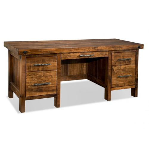 Handstone - Rafters Executive Desk with Pencil drawer with flip down front