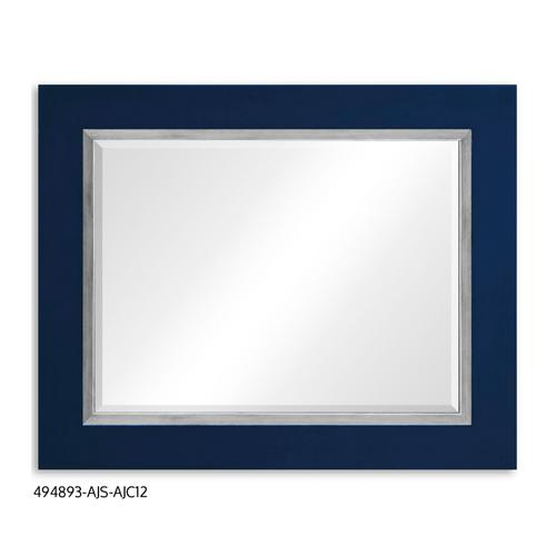 """""""Teal Homespun"""" mirror (Royal Navy/Silver)"""