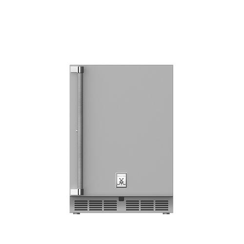 """24"""" Hestan Outdoor Dual Zone Refrigerator with Wine Storage (Solid Door) - GRWS Series - Steeletto"""