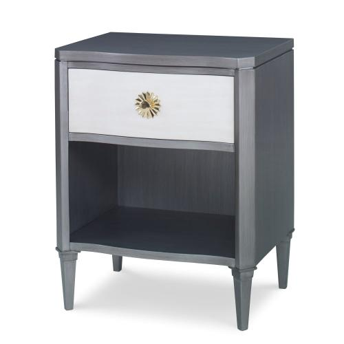 Halley Nightstand - Grey / Linen