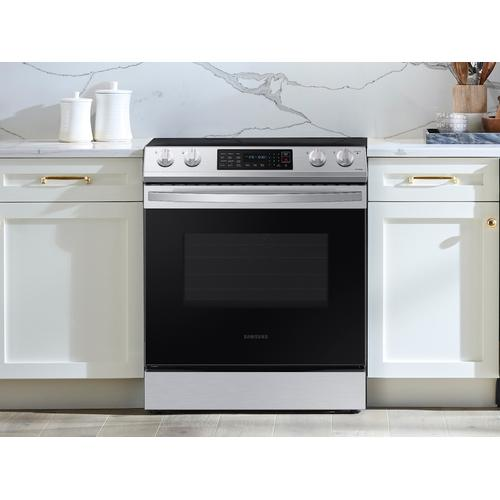6.3 cu ft. Front Control Slide-in Electric Range with Wi-Fi in Stainless Steel