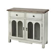 Roland 2-door 2-drawer Cabinet In Antique White