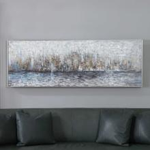 City Reflection Hand Painted Canvas