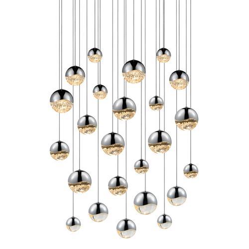 Sonneman - A Way of Light - Grapes® LED Pendant [Size=24-Light Assorted, Color/Finish=Polished Chrome, Shape=Round Canopy]