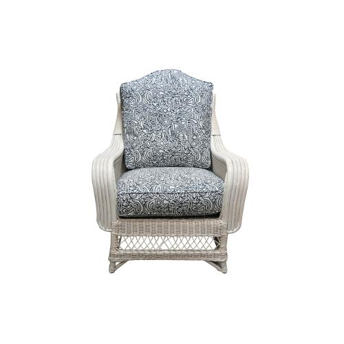 Occassional Chair, Available in Weathered White Finish Only.