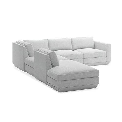 Podium 5PC Seating Group A New Bayview Silver / Left Facing