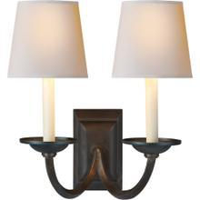 Visual Comfort CHD1496AI-NP E. F. Chapman Flemish 2 Light 13 inch Aged Iron Decorative Wall Light
