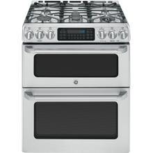 """See Details - GE Cafe™ Series 30"""" Slide-In Front Control Gas Double Oven with Convection Range"""