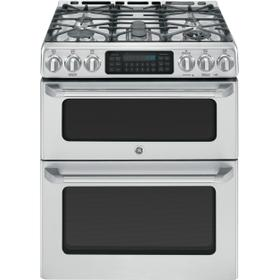 "Scratch and Dent!!  GE Café Series 30"" Slide-In Front Control Gas Double Oven with Convection Range"