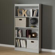 4-Shelf Bookcase - Soft Gray