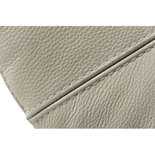 Divani Casa Shoden - Modern Light Grey Leather Sofa