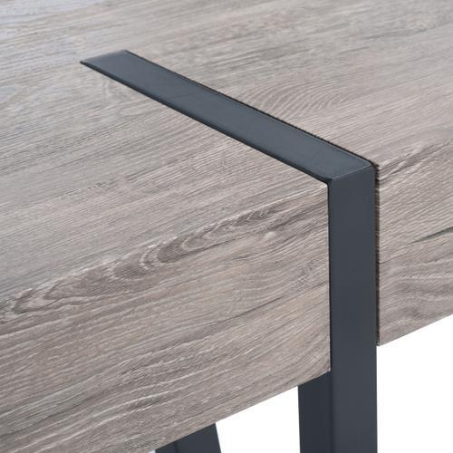 Alyssa Dining Table - Grey Oak / Black Legs