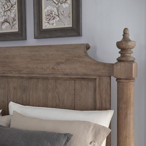 Crestmont Queen Poster Headboard in Brown