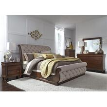 Alt Queen Sleigh Bed, Dresser & Mirror, N/S