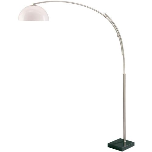 Arch Lamp, Ps/marble Base/white Acrylic Shade, E27 Cfl 23w