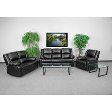 Harmony Series Black LeatherSoft Reclining Sofa Set