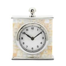 Product Image - 5x7 Metal Table Clock, Silver