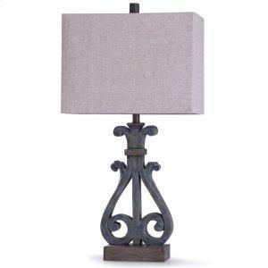 Brampton Blue Table Lamp