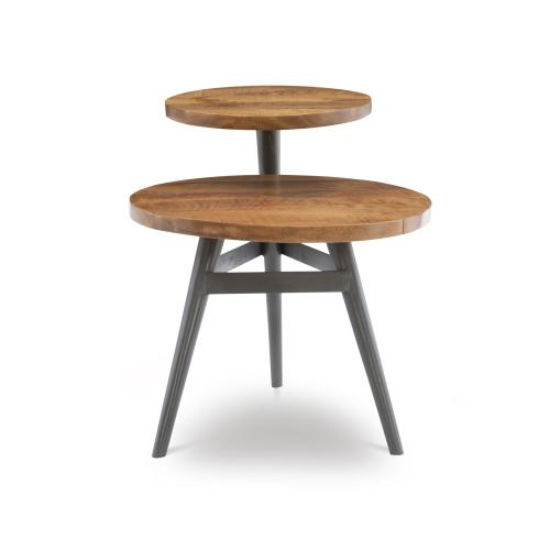 2-tiered Side Table, Grey and Brown