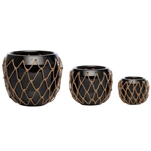 Alfresco Home - Fish Net Cachepot set of 3